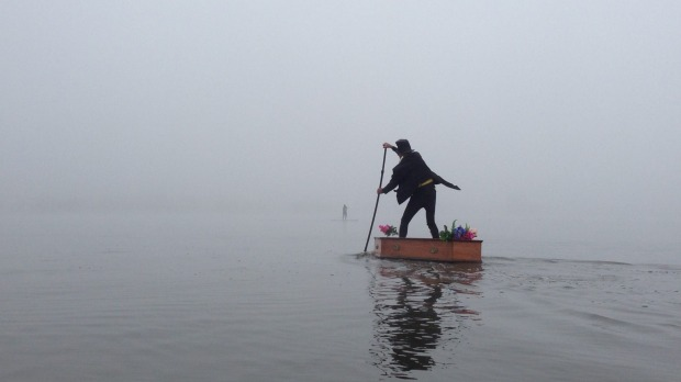 Image of the Lake Burley Griffin undertaker by Jeanne Mclauchlan via the Canberra Times